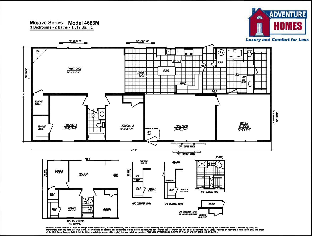 Iseman homes floor plans for 18x80 mobile home floor plans