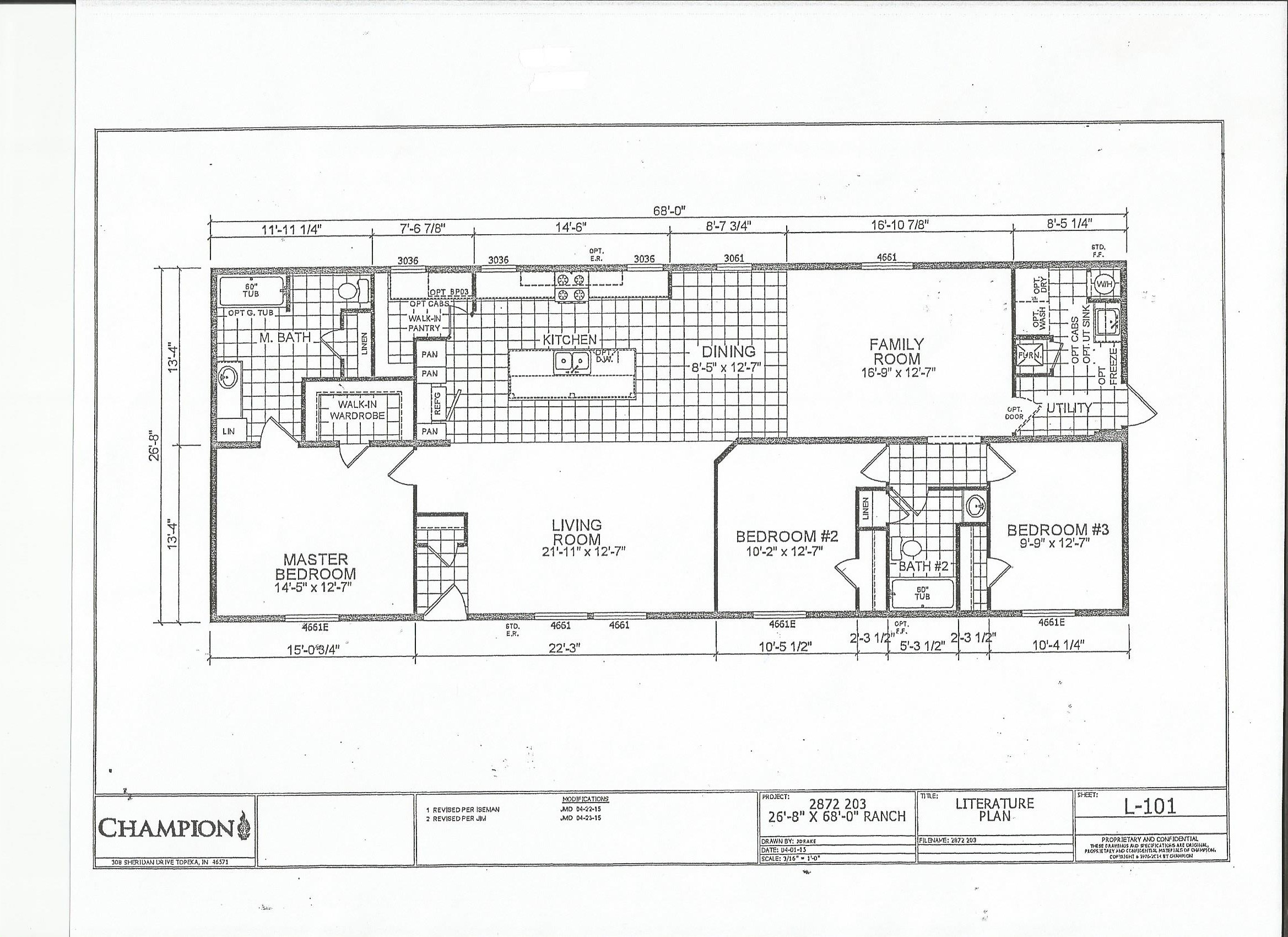 Scan0013 Redman Mobile Home Floor Plans X on