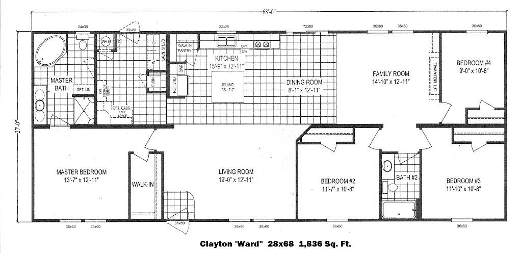 17 2565 180 28x48 redman advantage 2852 215 for 28x48 floor plans